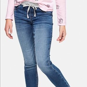 Justice Mid Rise Knit Waist Super Skinny Jeans -14
